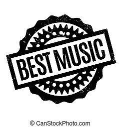 Best Music rubber stamp