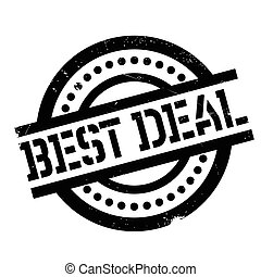 Best Deal rubber stamp. Grunge design with dust scratches....