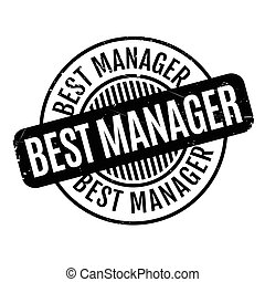 Best Manager rubber stamp. Grunge design with dust...