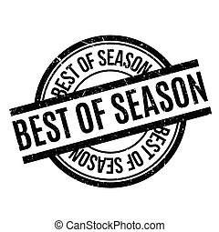 Best Of Season rubber stamp. Grunge design with dust...