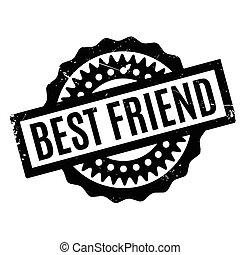 Best Friend rubber stamp. Grunge design with dust scratches....