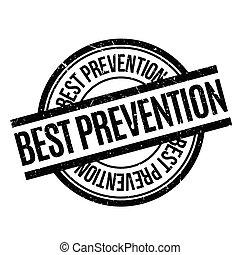Best Prevention rubber stamp. Grunge design with dust...