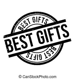 Best Gifts rubber stamp. Grunge design with dust scratches....