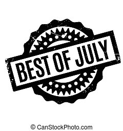 Best Of July rubber stamp. Grunge design with dust...