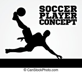 Silhouette Soccer Player - A stylised illustration of a...