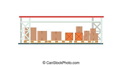 Worldwide Warehouse Deliver. Storehouse Building.