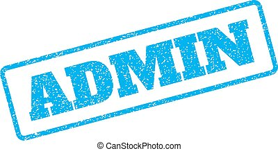 Admin Rubber Stamp - Blue rubber seal stamp with Admin text....