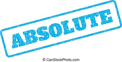 Absolute Rubber Stamp - Blue rubber seal stamp with Absolute...