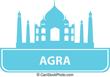 Agra outline. Vector illustration for you design