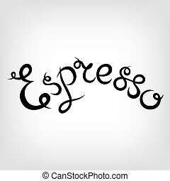 Vector Hand-drawn Lettering. Latte Macchiato. - Vector...