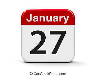 27th January - Calendar web button - The Twenty Seventh of...