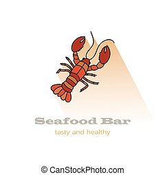 lobster vector illustration. Color icon. - Lobster vector...