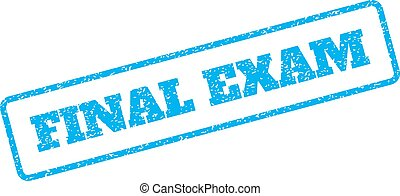 Final Exam Rubber Stamp - Blue rubber seal stamp with Final...