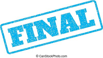 Final Rubber Stamp - Blue rubber seal stamp with Final text....