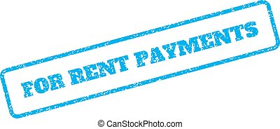 For Rent Payments Rubber Stamp