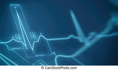 eart beats cardiogram - Abstract heart beats cardiogram...