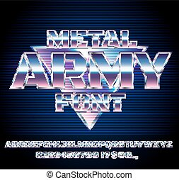 Retro Future Font - Retro Future Military Army Sci-Fi Movies...
