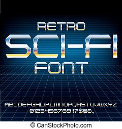 Retro Future Font - Retro Future Military Cyber Sci-Fi...
