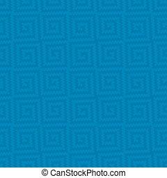 Meander Pixel Art Seamless Pattern. - Blue Meander Pixel Art...
