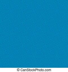 Classic meander seamless pattern. - Blue Classic meander...