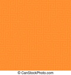 Classic meander seamless pattern. - Orange Classic meander...