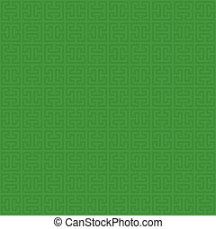 Classic meander seamless pattern. - Green Classic meander...