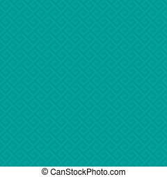 Classic meander seamless pattern. - Turquoise Classic...