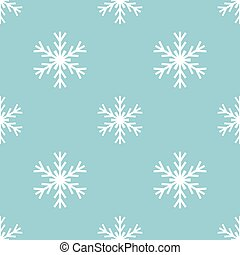 Snowflakes winter pattern