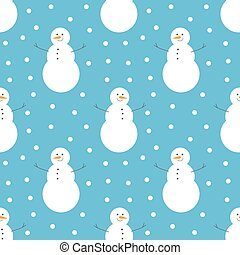 Winter snowman pattern