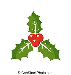 Christmas holly berry icon illustration