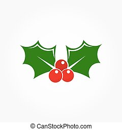 Christmas holly berry icon