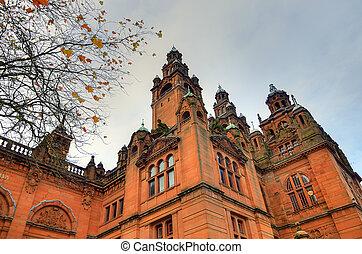 arte,  Glasgow,  Kelvingrove, Escocia, museo, galería