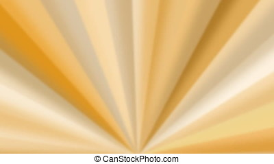 Abstract yellow colored rotating fan-like rays