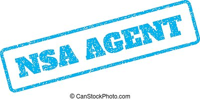 NSA Agent Rubber Stamp - Blue rubber seal stamp with NSA...