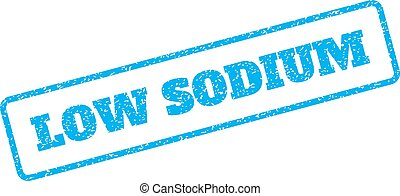 Low Sodium Rubber Stamp - Blue rubber seal stamp with Low...