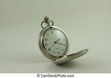 Pocket watch - Vintage pocket watch isolated on white...