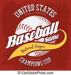 Ball for american sport baseball game logo - Baseball ball...