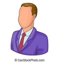 Man in suit avatar icon, cartoon style - Man in suit avatar...