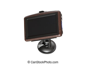 GPS Navigator - GPS navigator isolated on white background...