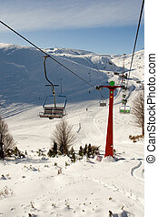 ski center Mavrovo, Macedonia - ski center Zare Lazarevski,...