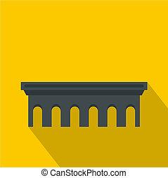 Bridge icon, flat style - Bridge icon. Flat illustration of...