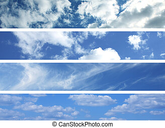 Clouds on blue sky. For you design