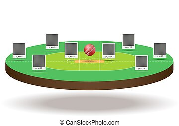 Structure of cricket players - Background concept Structure...