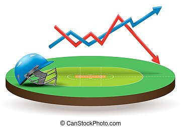 Concept of statistics about the cricket - Background concept...