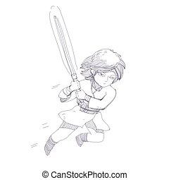jumping knight character - attack jumping knight character...