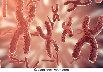 Science background with Chromosomes. Medicine scientific...