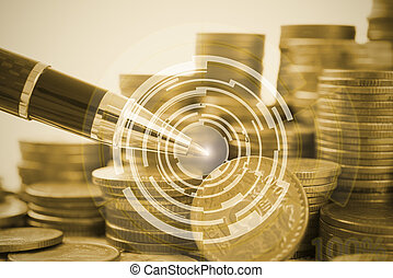 Business finance and banking concept investment for background.