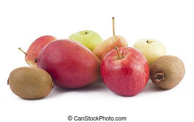 Freshness fruits on white background