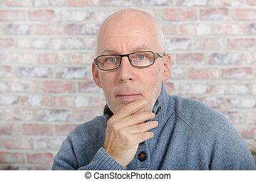portrait of senior man looking at camera