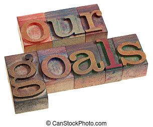 nuestro, metas, concepto